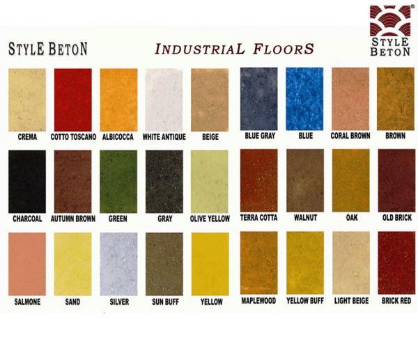 Farbkarte Industrieboden SYSTEME Stempelbeton Style Beton - Farbige betonplatten